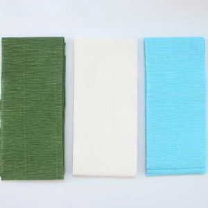 Thick Crepe paper, Dark green, white, 10.2cm x 2.5m, 3 sheets, 75 gsm, [CR346]